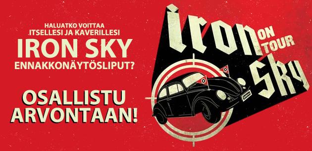 Iron Sky ennakkonäytöslippujen arvonta