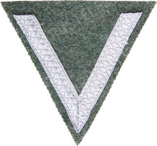 Wehrmacht Gefreiter rank chevron, Feldgrau, repro