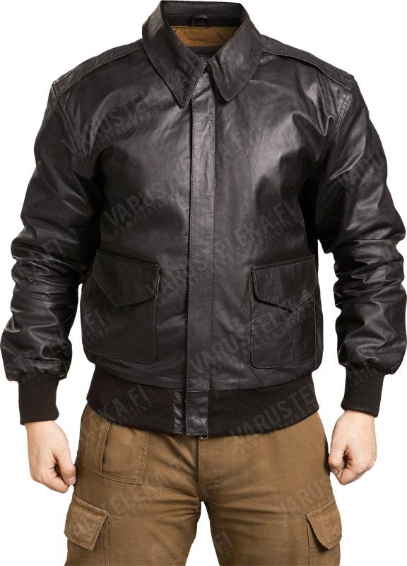 Brown Leather Flight Jacket - Jacket