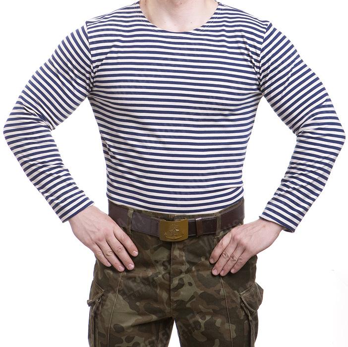 405eb978a7 Russian Telnyashka, long sleeve, dark blue striped - Varusteleka.com