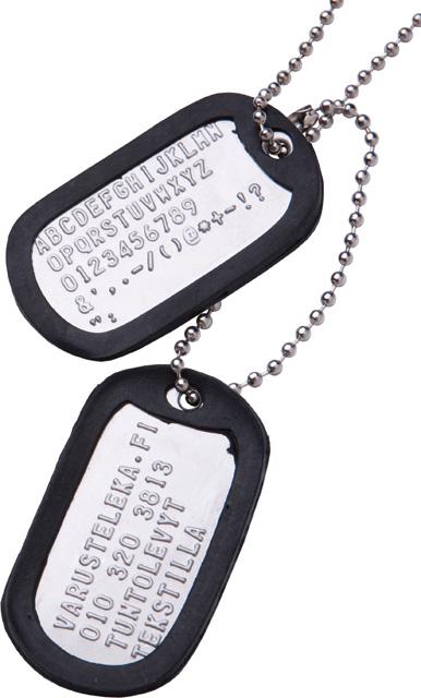 US Dog Tags -tuntolevyt, omalla tekstillä