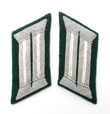 Wehrmacht collar tabs, officer's, infantry, reproduction