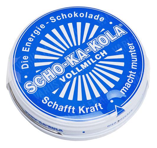 Scho-Ka-Kola, 100 g peltirasiassa, täysmaito
