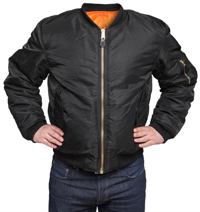 MFH MA-1 flight jacket black - Varusteleka.com