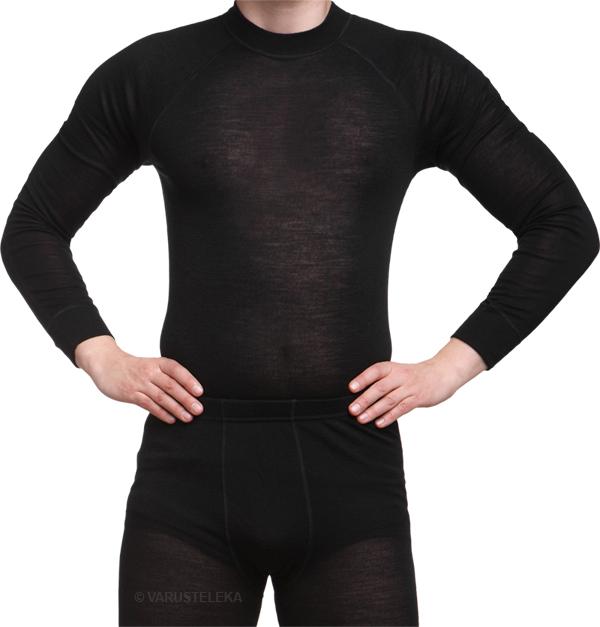 Särmä merino wool long sleeve shirt, black