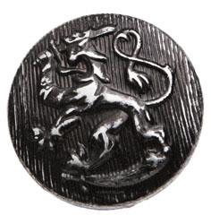 SA leijonanappi, niklattu/musta