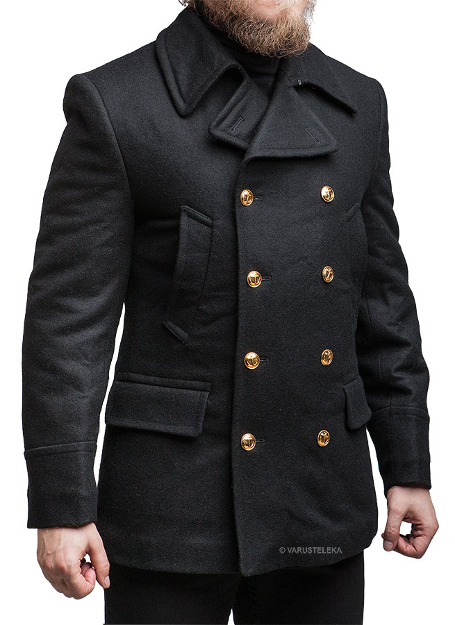 Russian navy wool coat, black, unissued - Varusteleka.com
