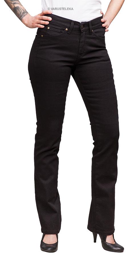Särmä hamekansan farkut, mustat