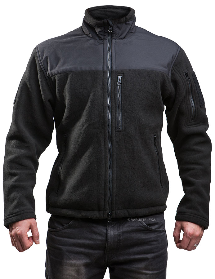 Särmä hoodless fleece jacket, black