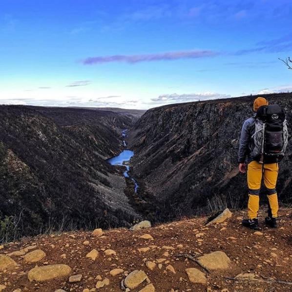 Kevo Canyon as a Kebnekaise rebound