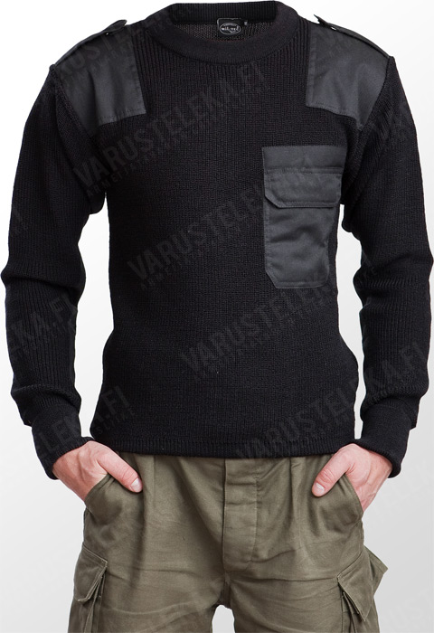 Mil-Tec BW-mallin villapaita, musta