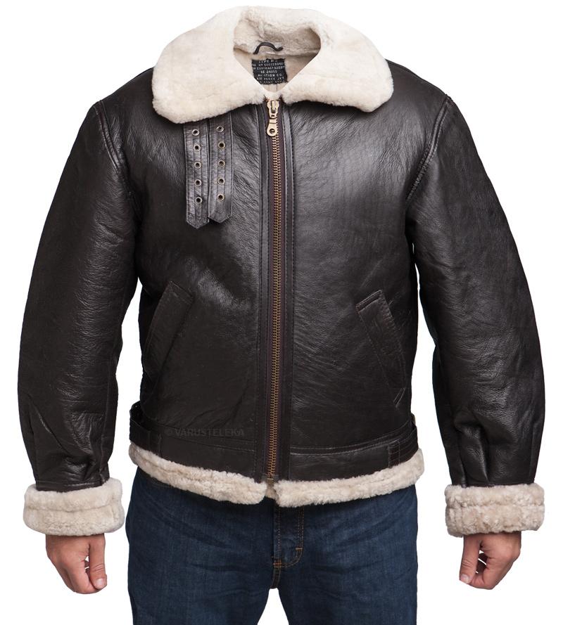 US B-3 bomber jacket, shearling, repro
