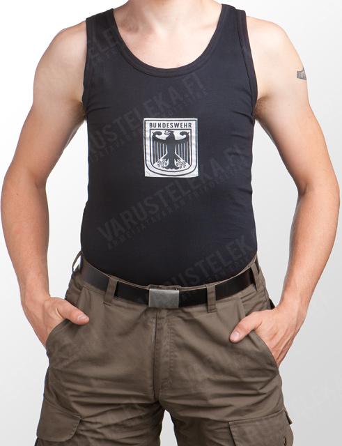 Mil-Tec Hihaton urheilupaita, BW:n logolla, musta