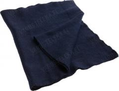 BW wool scarf, navy blue, surplus
