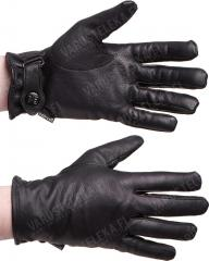 BW-model leather gloves, lined, black