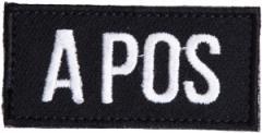 Särmä TST blood type patch, black, velcro