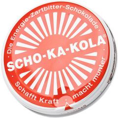 Scho-Ka-Kola, 100 g tin can, dark, RED