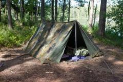 BW two man tent, Flecktarn, used