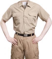BW service shirt, khaki, short sleeve, surplus