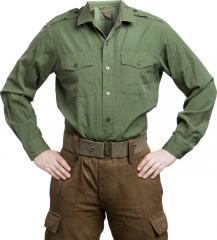 British service shirt, olive green, surplus