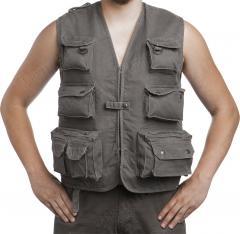 Mil-Tec outdoors vest, moleskin, olive drab