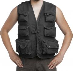 Mil-Tec outdoors vest, moleskin, black