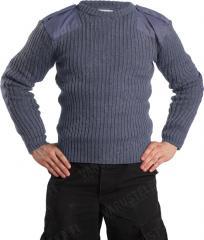 Brittiläinen villapaita, siniharmaa, ylijäämä