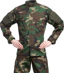 Teesar ACU jacket, ripstop, Woodland