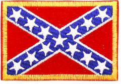 US Confederate flag patch, full colour