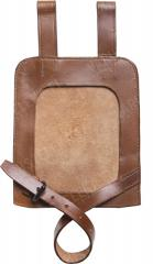 Wehrmacht e-tool carrier, leather, brown, reproduction