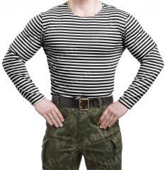 Russian Telnyashka, long sleeve, black striped
