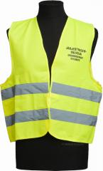 Security personnel vest, yellow