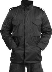 Mil-Tec M65 field jacket with liner, black