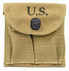 US M1 magazine pouch, khaki, reproduction