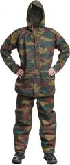 Belgian Jigsaw camo rainsuit, surplus