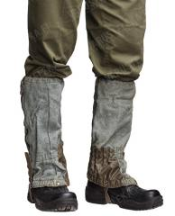 Swiss gaiters, grey, with zippers, surplus