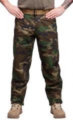 Teesar BDU trousers, ripstop, Woodland