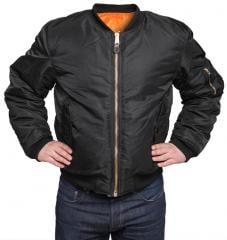MFH MA-1 flight jacket, black