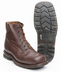 Swedish ankle boots with rubber sole, brown, surplus