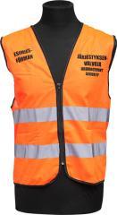 Security personnel vest, orange, foreman