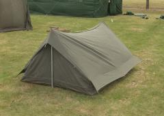 French 2 person tent, olive drab, surplus