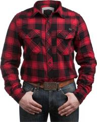 Brandit check shirt, red-black