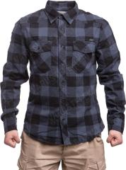 Brandit check shirt, gray-black