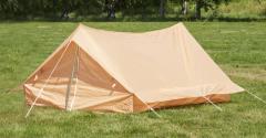 Ranskalainen kahden hengen teltta, khaki, ylijäämä