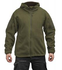 Särmä hooded Fleece jacket, olive green