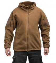 Särmä hooded Fleece jacket, coyote brown
