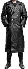 Särmä Officer's leather great coat, black