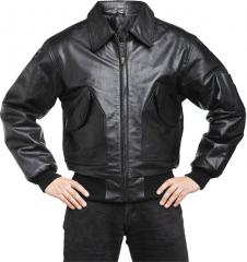 Särmä CWU-45P flight jacket, leather, black