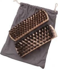 Swedish shoe brush pair in bag, surplus