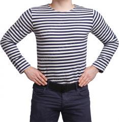 Russian Telnyashka, winter model, dark blue striped